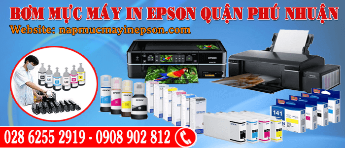 bơm mực máy in Epson quận Phú Nhuận