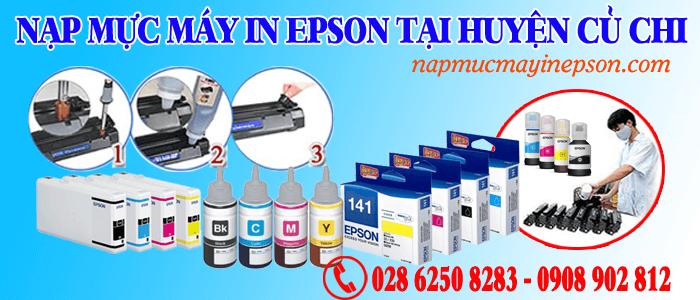 nạp mực máy in Epson huyện Củ Chi