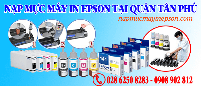 nạp mực máy in Epson quận Tân Phú